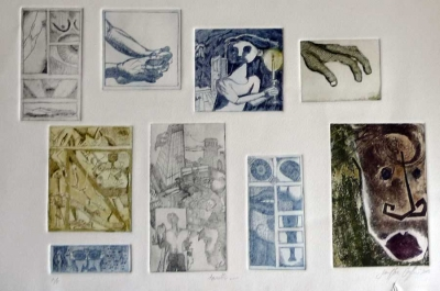 reference to Annette Bronstein who taught me Printmaking
